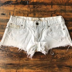 Hollister Co Super Light Acid Wash Cut Off Shorts